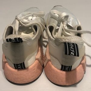 Adidas NMD _R1  Girls  Pink White Sneakers Sz 5